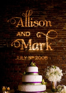 Allison and Mark Gobo Rental Example on Brick Wall