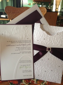 Wedding invitation monogram