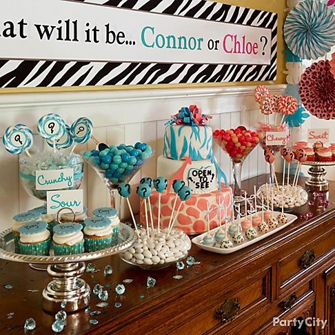 animal print gender reveal party baby shower ideas