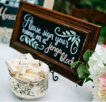 DIY Jenga Wedding Guestbook