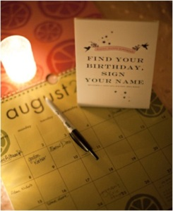wedding, calendar, calendar guestbook, guestbook, diy