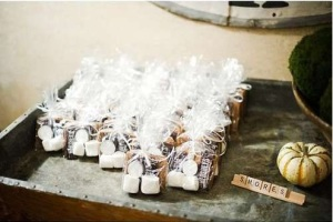 wedding, smores, diy, smores wedding favor, wedding favors, chocolate