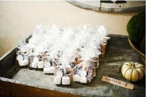 wedding, smores, diy, smores wedding favor, wedding favors, chocolate