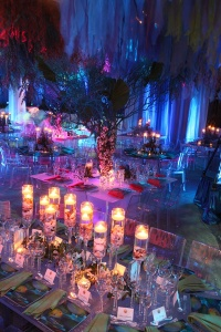 under the sea, event, diy, centerpieces, seashells, ocean theme, formal, dance, party, under the sea theme, floating candles, candles