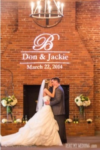 wedding, diy, monogram, gobo, gobo monogram. ceremony, wedding ceremony