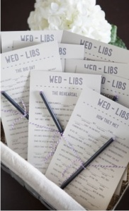 wedding, mad libs, wedding mad libs, games, wedding game, diy