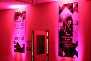 inspirational artwork, artwork, pink, pink uplighting, pink uplights, pink, party, event, diy, inspirational