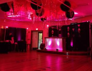 pink uplighting, diy, venue, party, event, pink, uplights, legendary women event, pink uplights