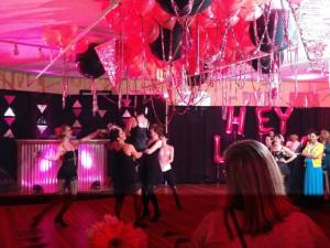 Chifferobe performance, performance, dance, event, party, pink, pink uplighting, pink uplights, the lady project, diy