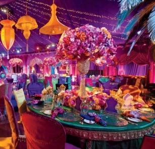 arabian nights, arabian night theme, arabian night prom, centerpieces, uplighting, tent lighting