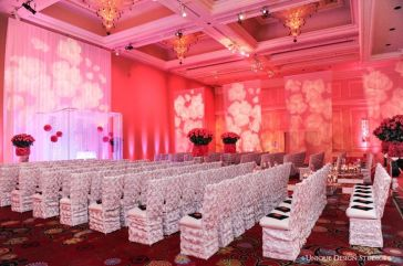 wedding, diy, pink uplighting, rose, rose monogram, monogram