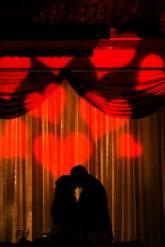 wedding, diy, red heart, red heart shaped monogram, heart monogram