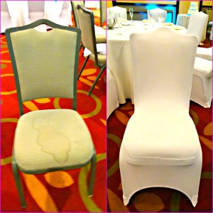 Chaircover Before and after
