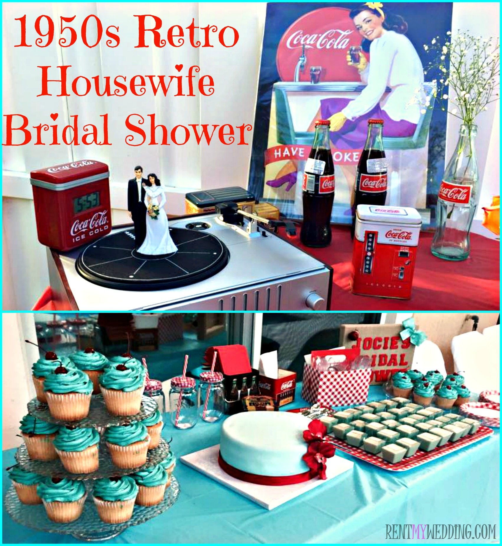 50s retro housewife themed bridal shower