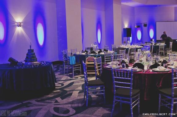 reception - blue - uplighting