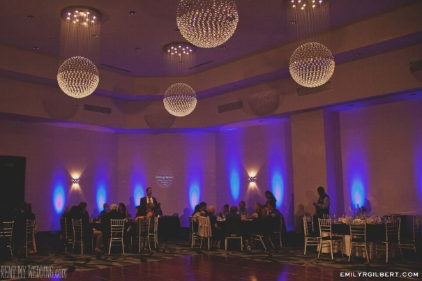 reception hall - uplighting - gobo