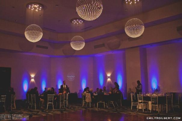 reception hall - uplighting - gobo