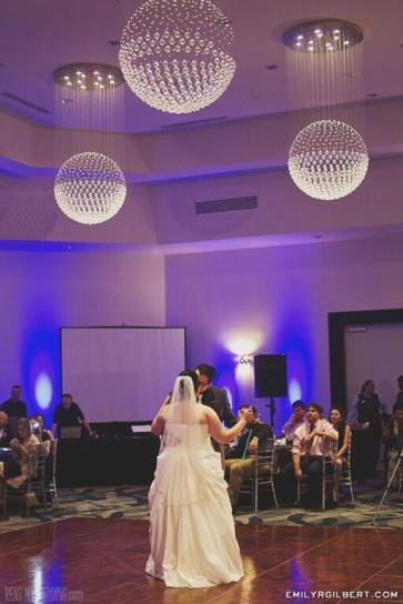 wedding reception - uplighting