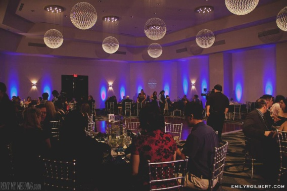 wedding - uplighting - gobo