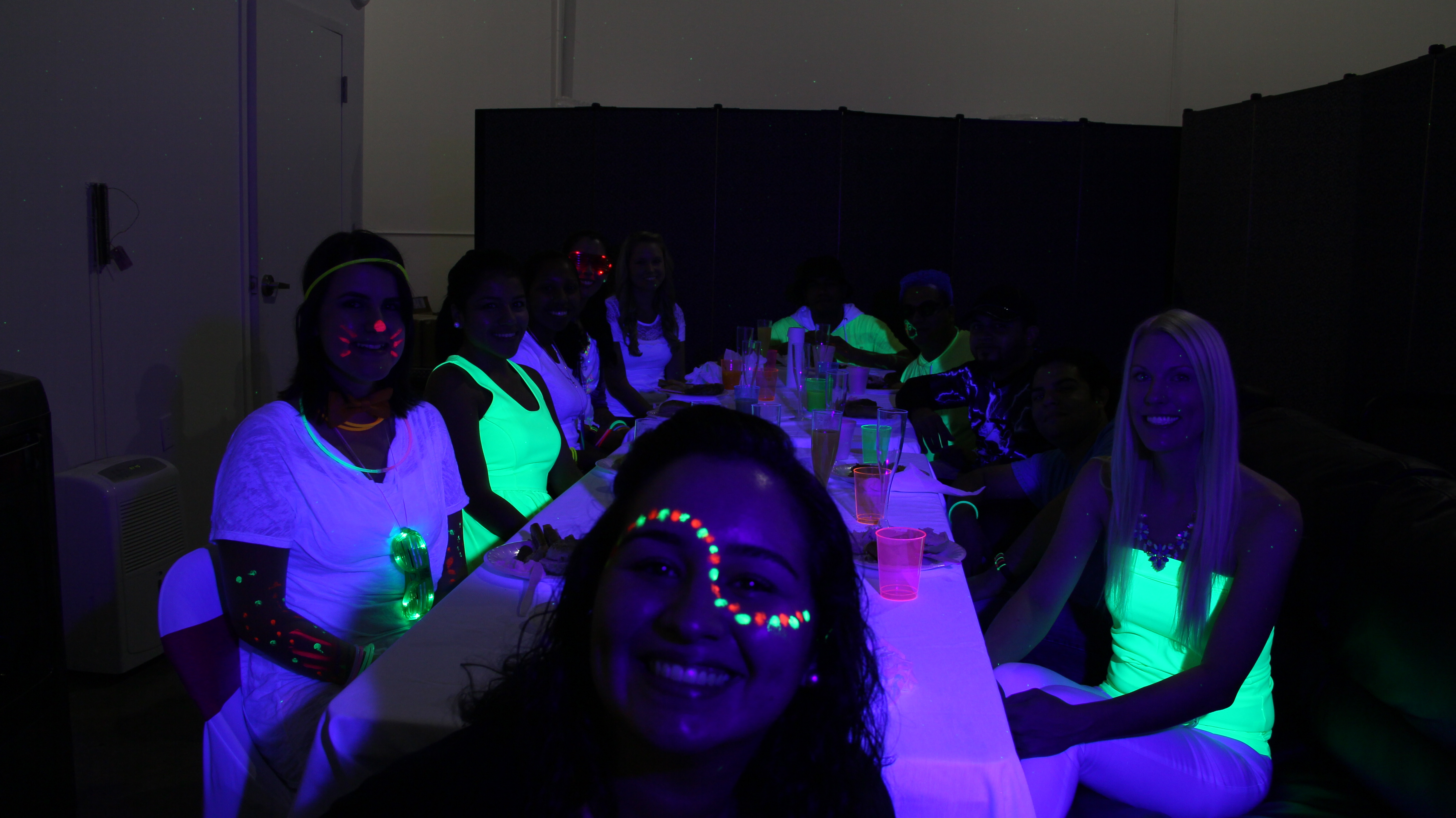Fun At The Rmw Office With A Black Light Brunch Party