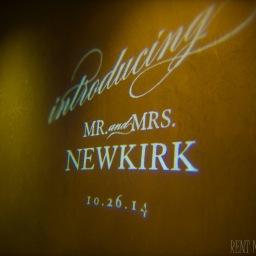 Happy 1 Year Anniversary, Mr. & Mrs. Newkirk!