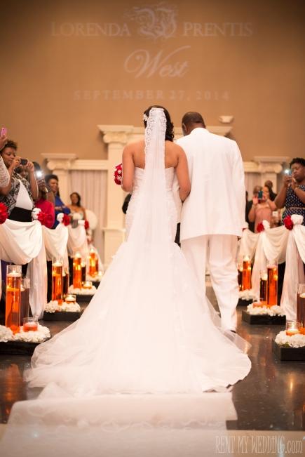 wedding monogram - lighting