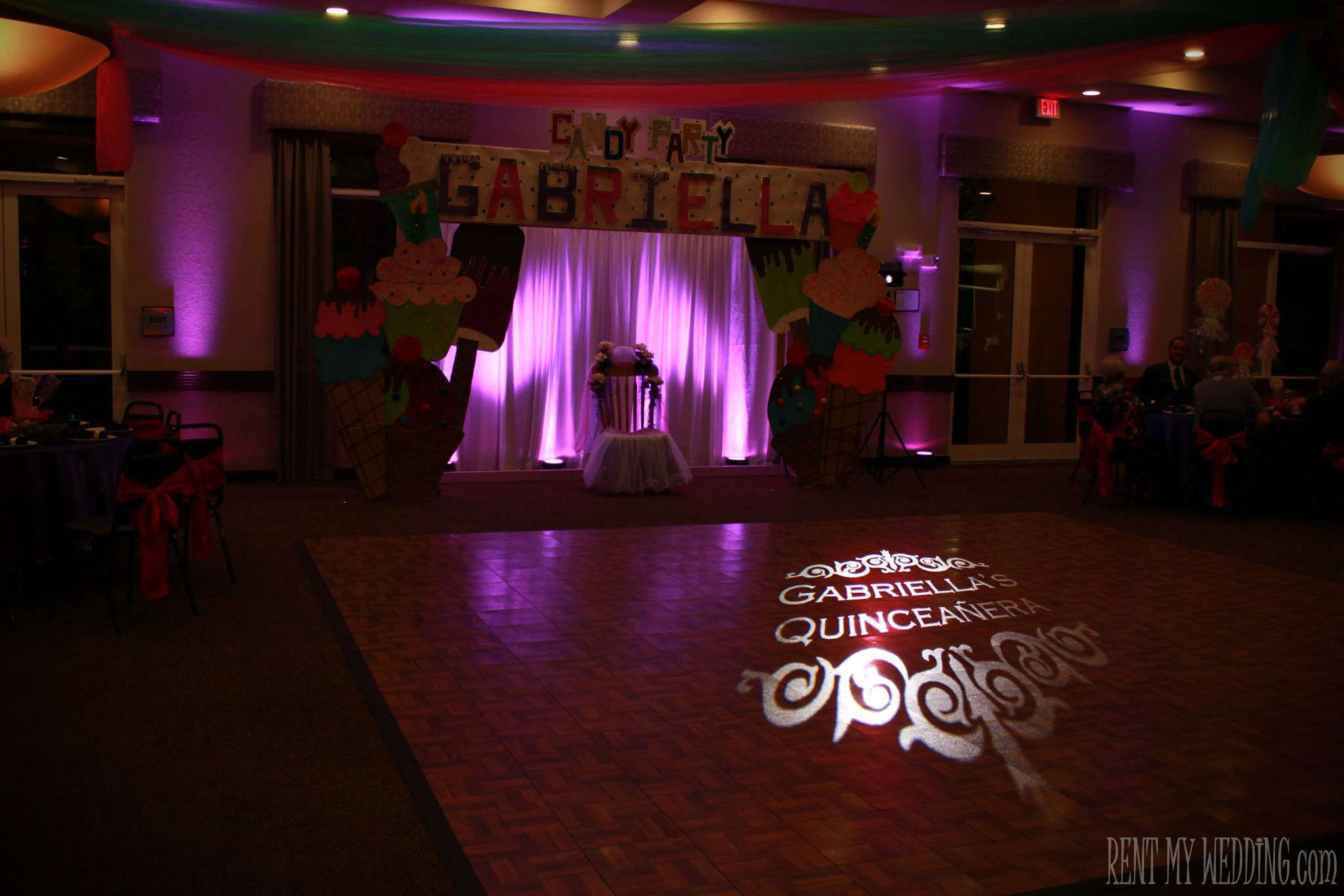 Image gallery sweet 15 gobos for Dance floor synonym