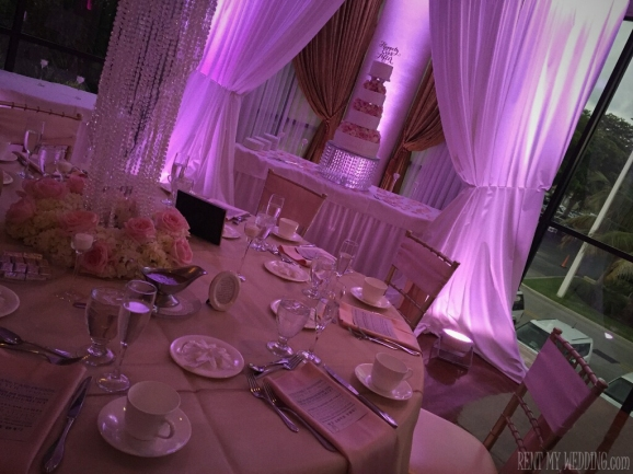 wedding - pink - uplighting