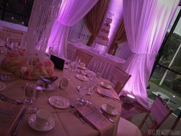 wedding - pink - uplighting
