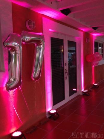 birthday - pink uplighting