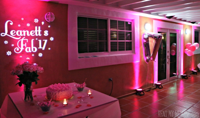 party - uplighting - gobo