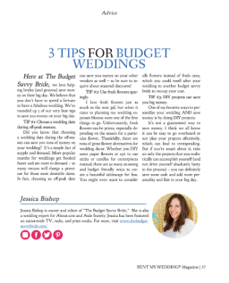 3 Tips for Budget Weddings