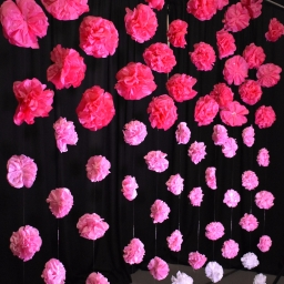 Create a Paper Flower Backdrop!