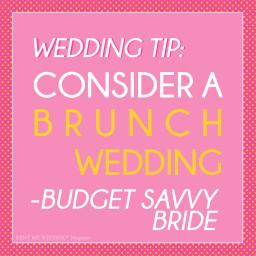 Consider Having a Brunch Wedding