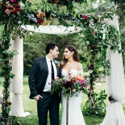 Romantic Flower Filled Affair